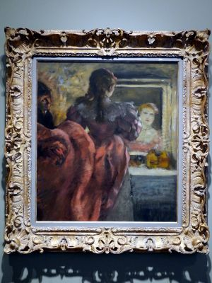 Actress Before The Mirror In Her Dressing Room Degas